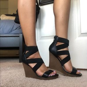 Black wedges! Size 7 call it spring